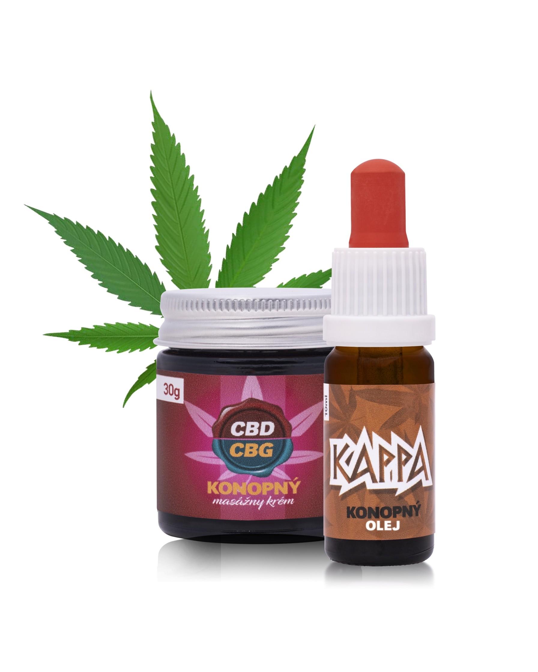 Kappa olej + 10% CBD / CBG masážny krém