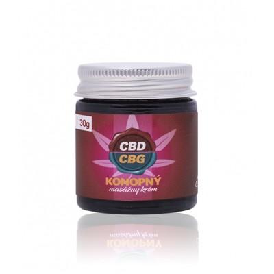 10% CBD / CBG - Konopný masážny krém