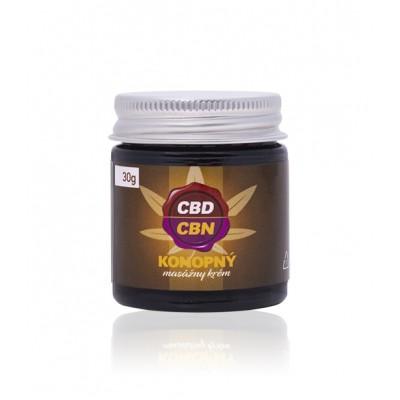 10% CBD / CBN - Konopný masážny krém
