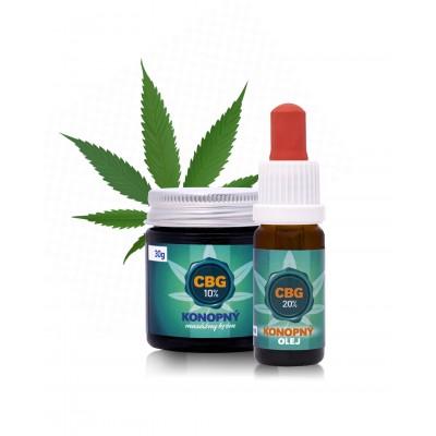 20% CBG olej + 10% CBG masážny krém