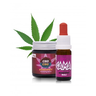 Gama olej + 10% CBD / CBG masážny krém