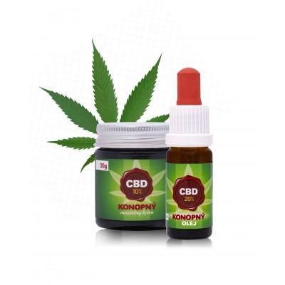 20% CBD olej + 10% CBD masážny krém