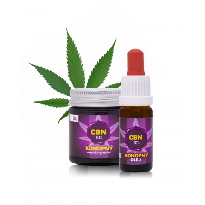 15% CBN olej + 10% CBN masážny krém